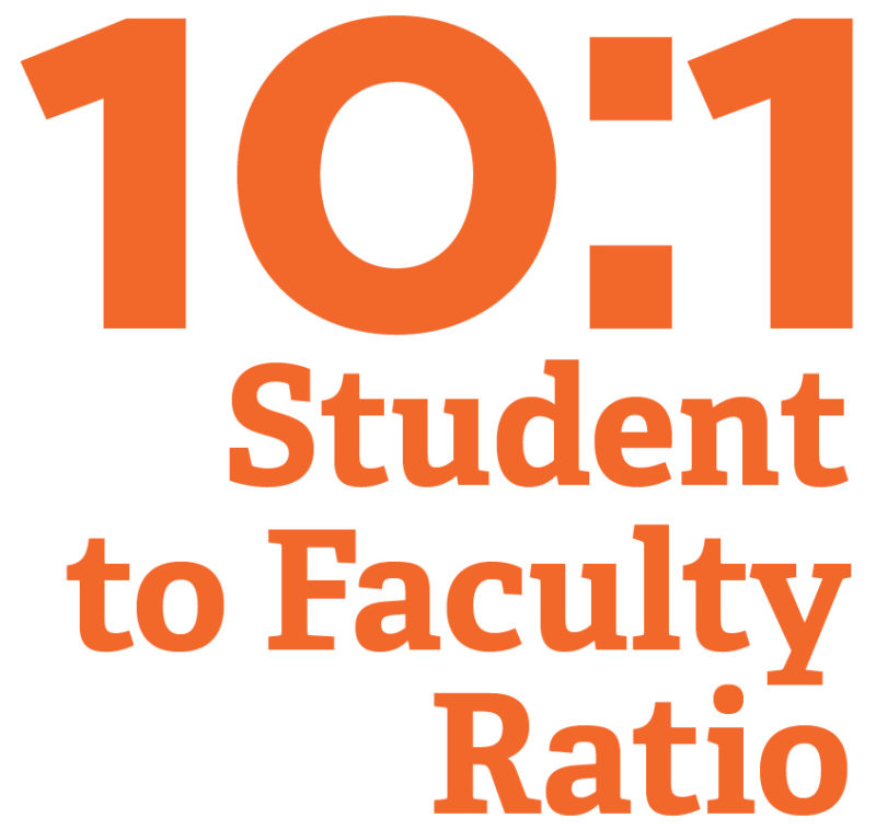 10:1 student to faculty ratio infographic