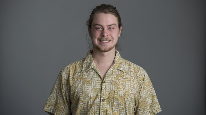 Northland College student Max Beal was awarded the Parker Matzinger Internship Award