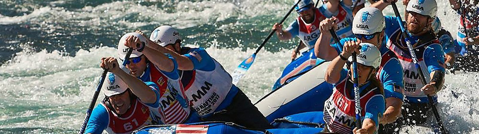 Northland College alum Jon McLaughlin whitewater rafting for Team USA
