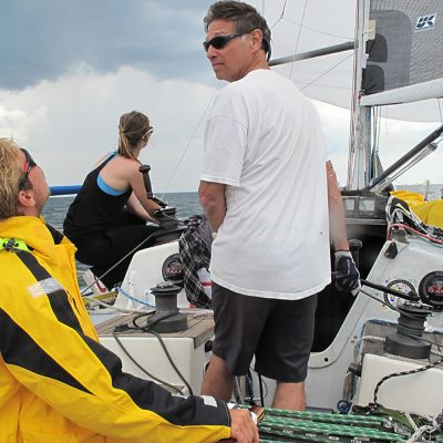 Northland College alums, Mark and Bronte Gross sail on Lake Superior