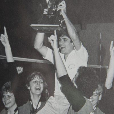 Northland College 1982 winning volleyball team