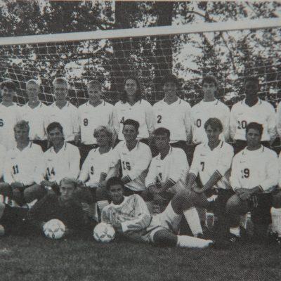 Historic shot of the men's 1991-92 soccer team