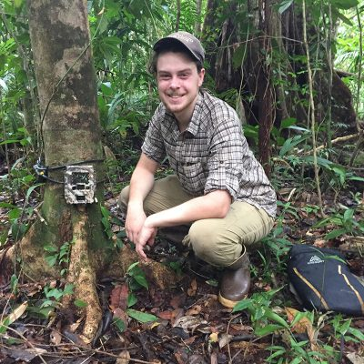 Northland College student doing research in Costa Rica