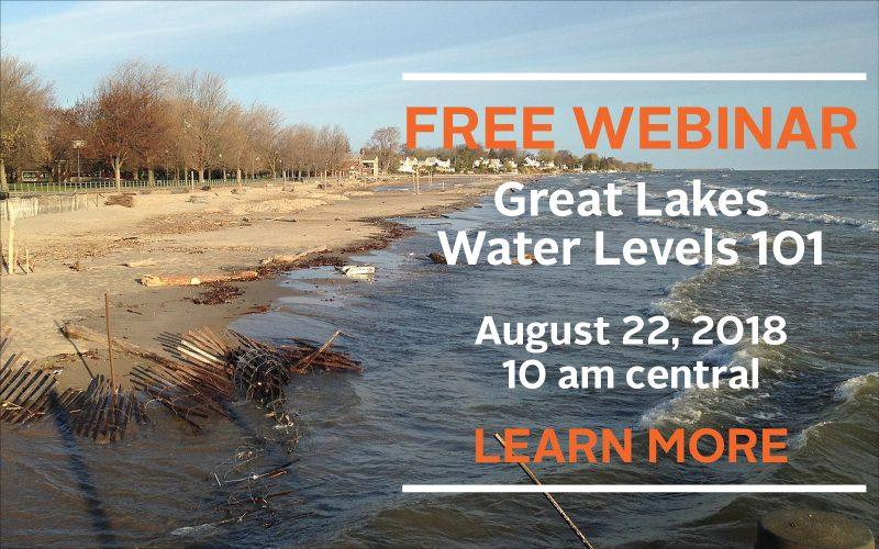 Great Lakes Water Levels webinar 8/22/18