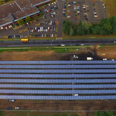 Eau Claire solar garden, photo taken by PJ Nelson