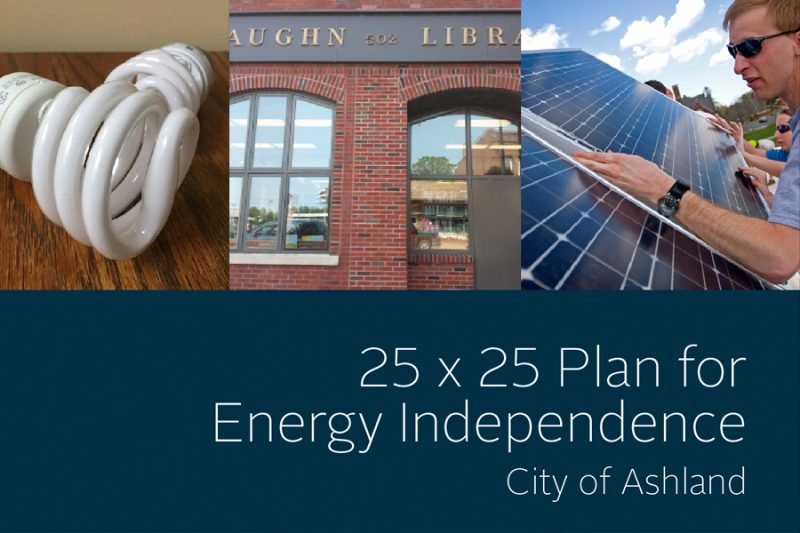 25 x 25 Plan for Energy Independence City of Ashland report cover thumbnail
