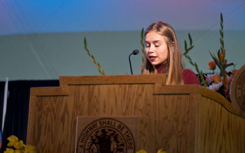 Northland College President Suomi Inauguration Celebration Student EmmaMarie Hammond Speech