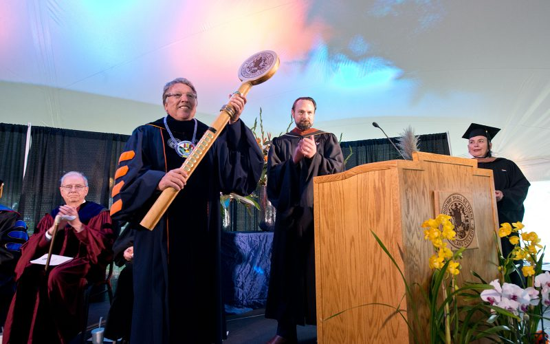 Northland College President Suomi Inauguration Celebration Presentation of the Presidential Mace