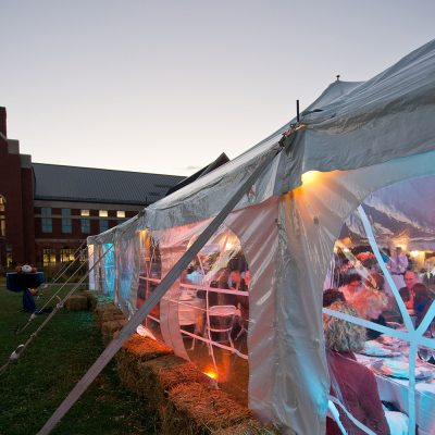 Northland College Inauguration of President Sumoi, Ponzio Campus Center and celebration tent