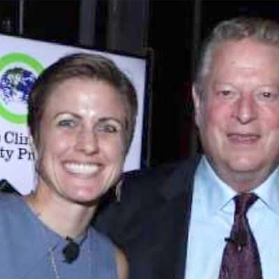 Northland alum Jenn Wood with Al Gore at the Climate Reality Project