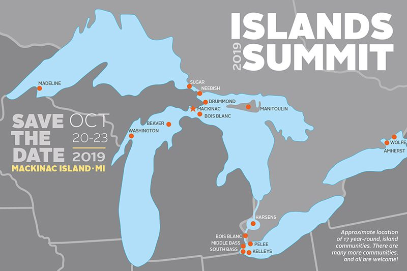 Islands Summit Save the Date Postcard
