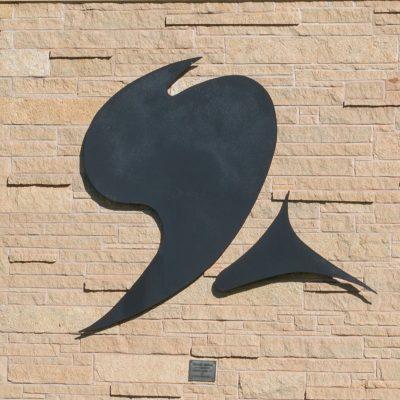 Winged Figure Northland College sculpture