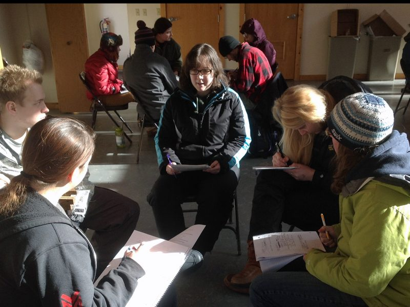 Wildlife Ecology & Management students developing a wildlife management plan.