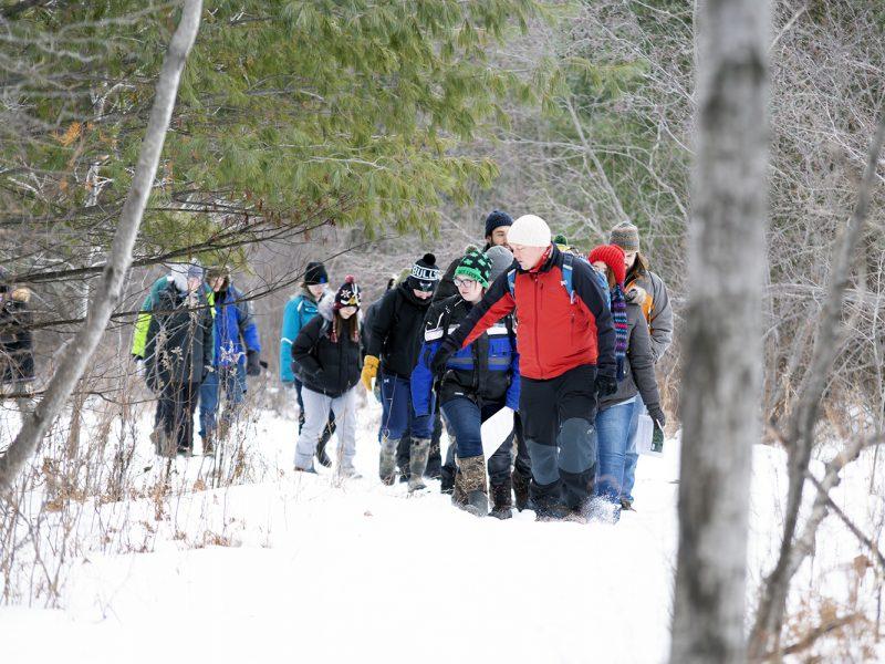 Wildlife Ecology class wildlife tracking.