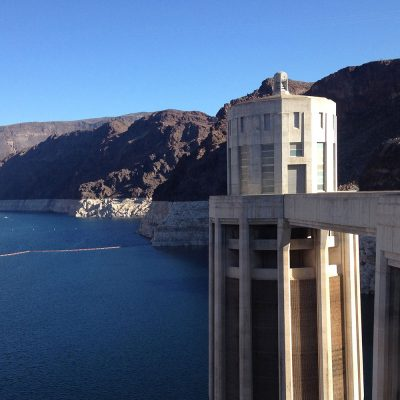 Lake Mead from above the Hoover Dam
