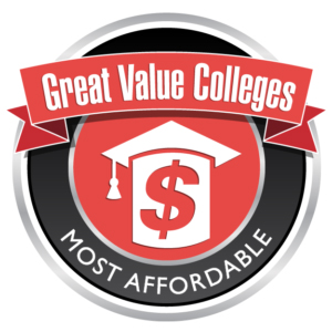 badge from Great Value Colleges Most Affordable