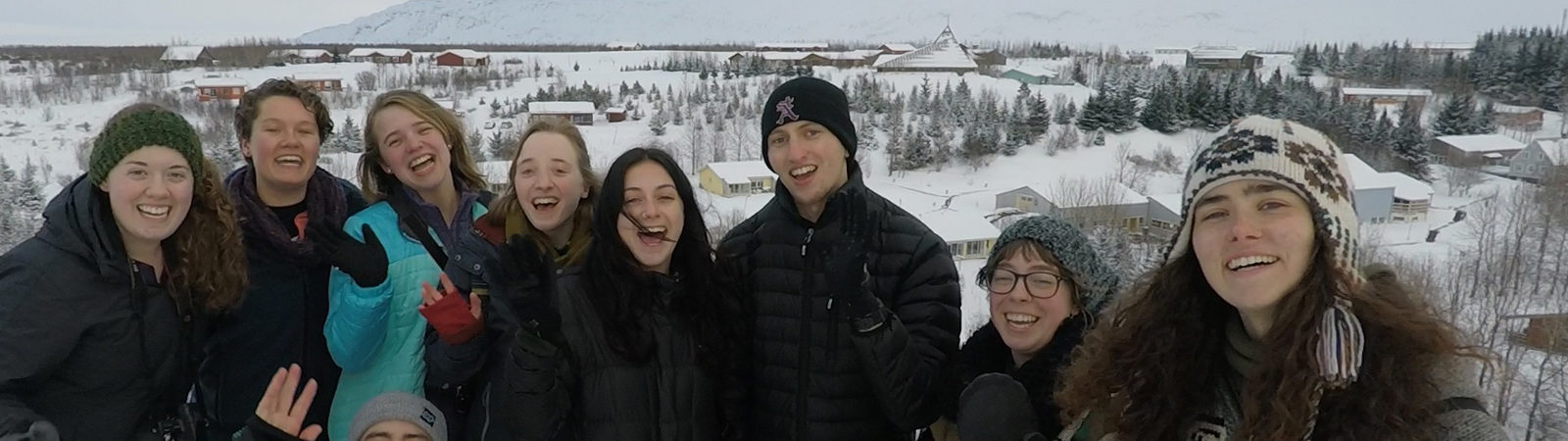 Northland College students in Iceland