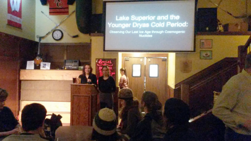 Two students present at Science on Tap