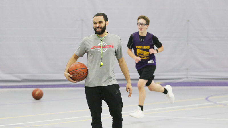 Education major and basketball player Danon Briggs will be student teaching in the fall. He'll also be coaching his second season as head coach of the Ashland High School boys C basketball team.