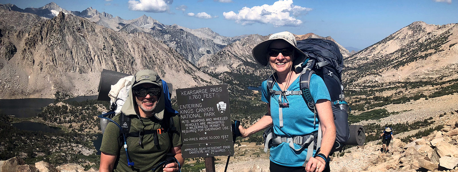 Northland College alumni Patrick and Audrey Guilfoile hiking the Pacific Coast Trail