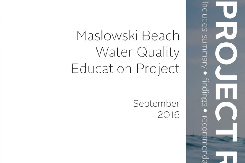 Maslowski Beach Water Quality Report Cover Thumbnail