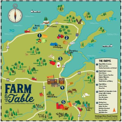 local food farm map