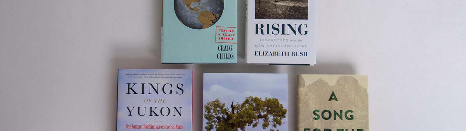 Winning book covers of Sigurd F. Olson Nature Writing Awards