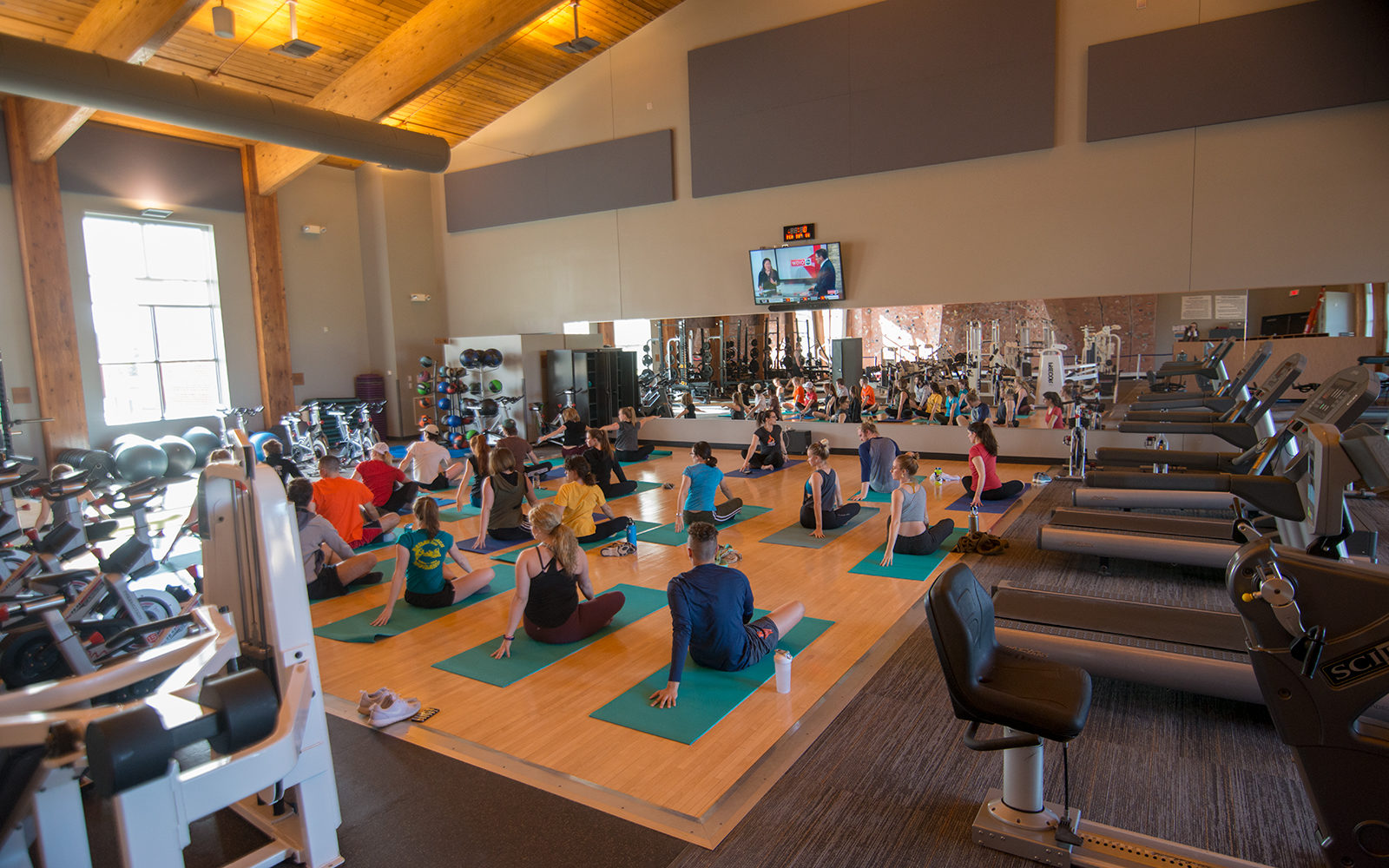 Yoga in the fitness center