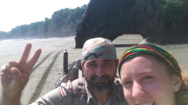 2019. Jen Franke and Costa Rican research partner Alejandro Azofeifa.