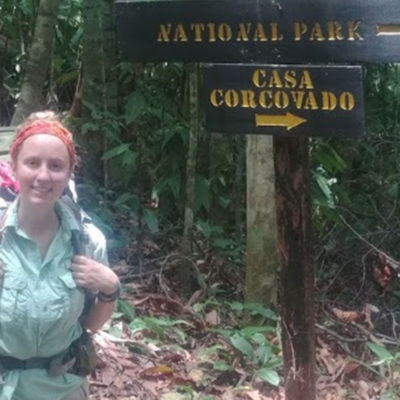 Jen Franke in a Costa Rican national park.