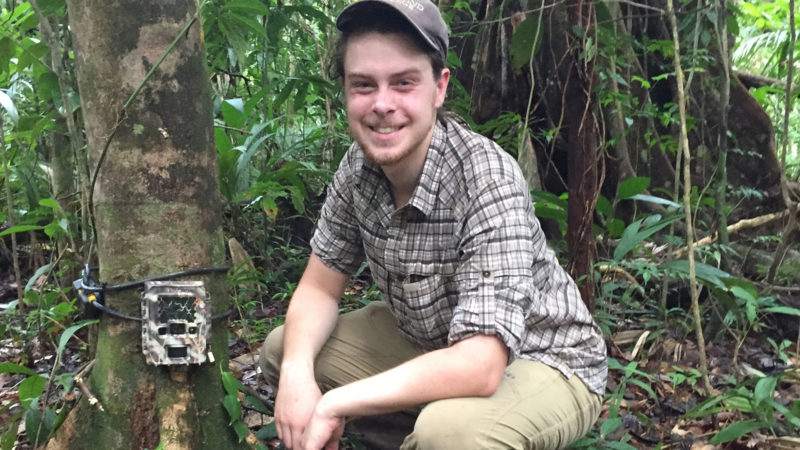 "2018. ""The six weeks I spent camera trapping for large cats in Costa Rica's national parks was the highlight of my Northland career,"" said Max Beal."
