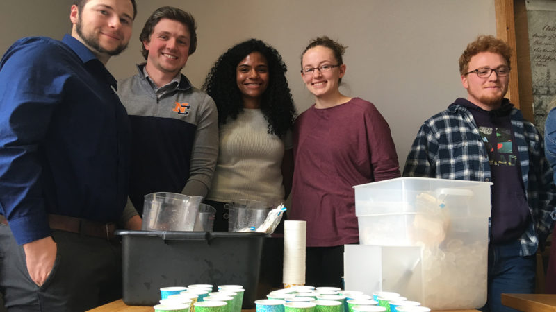 Business students created hazelnut milk and vegan ice cream.
