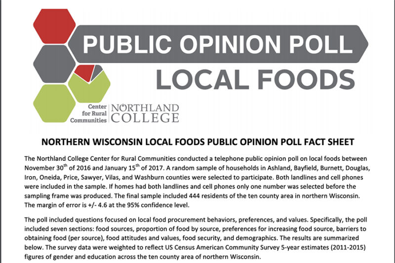 Local Foods Opinion Poll Cover