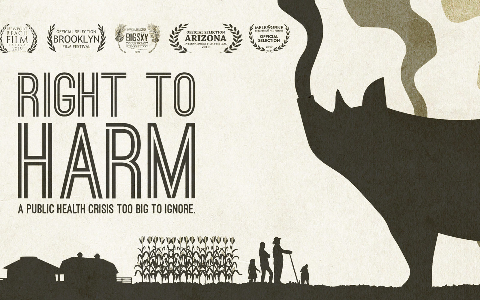 banner art for the film Right to Harm