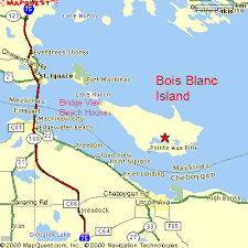 Bois Blanc Island location map