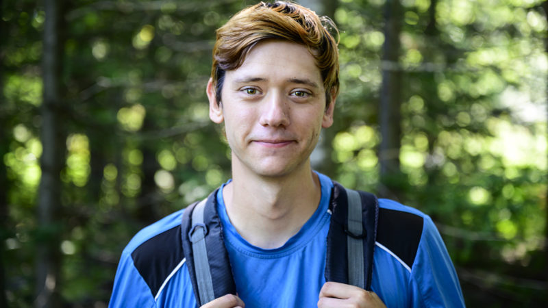 Northland College student Erick Marchessault