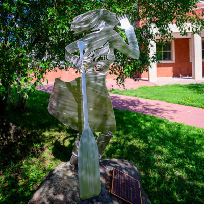 Campus Sculpture Girl with Paddle