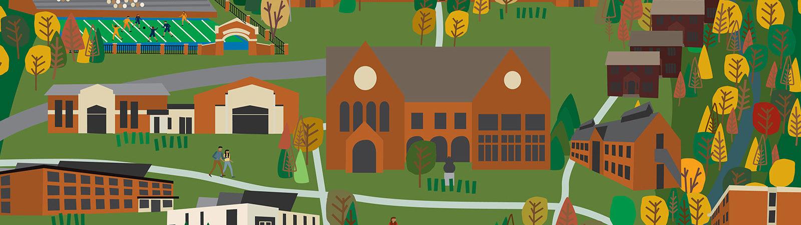 Northland College Campus illustration