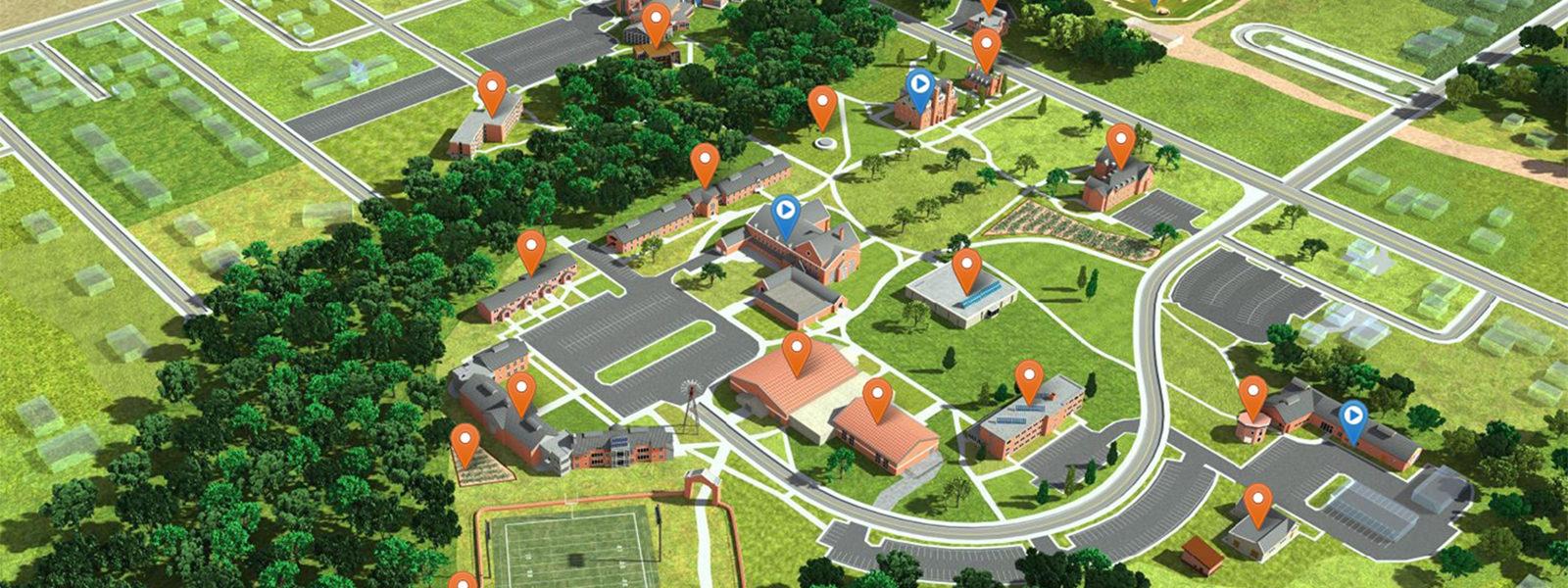 Northland College Online Interactive Map