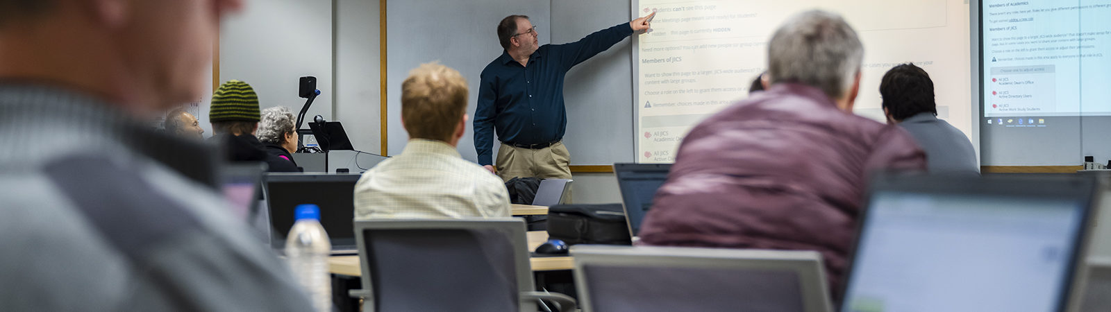 Faculty receive training for providing online instruction to students.