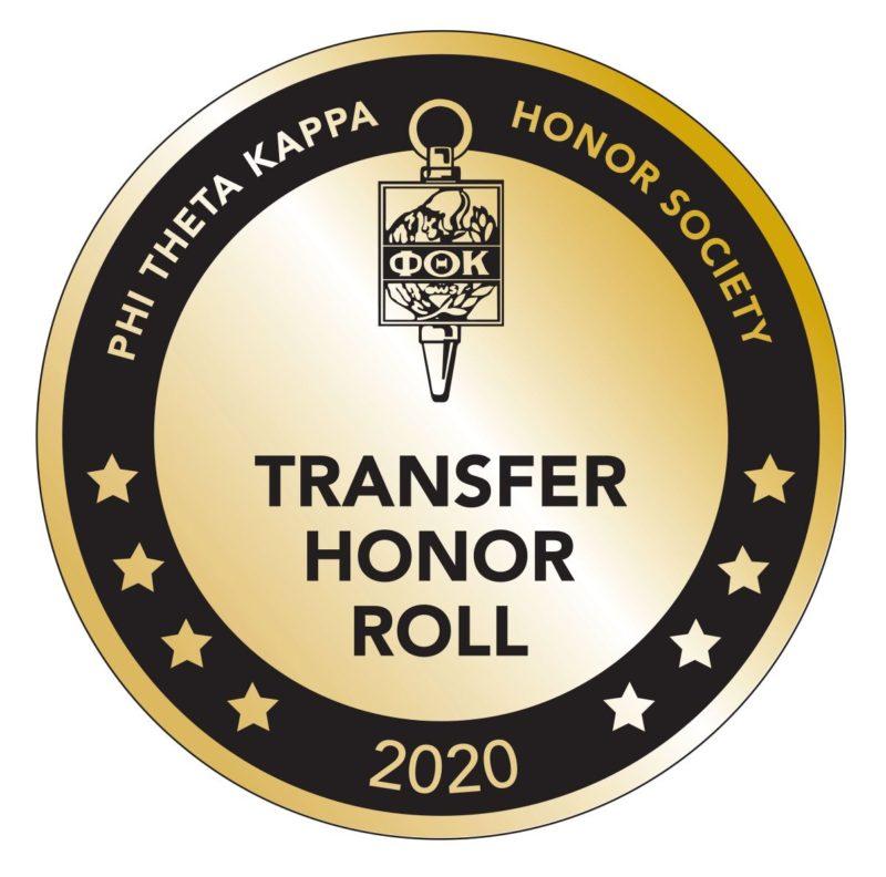 Phi Theta Kappa Transfer Honor Roll Badge 2020