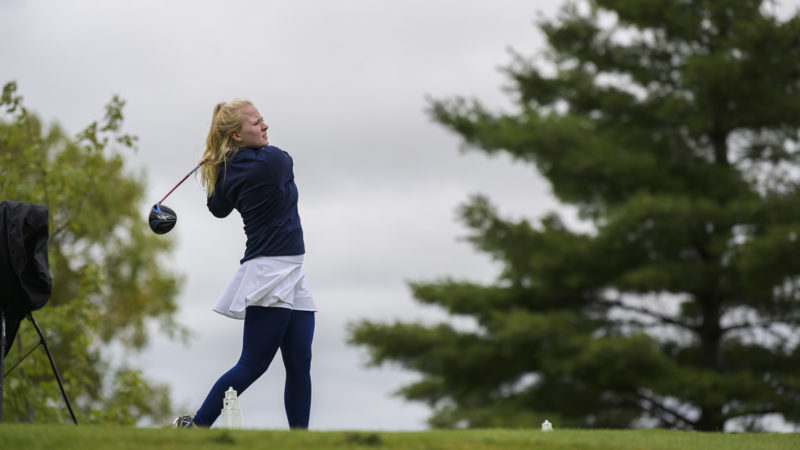 Northland College student plays golf