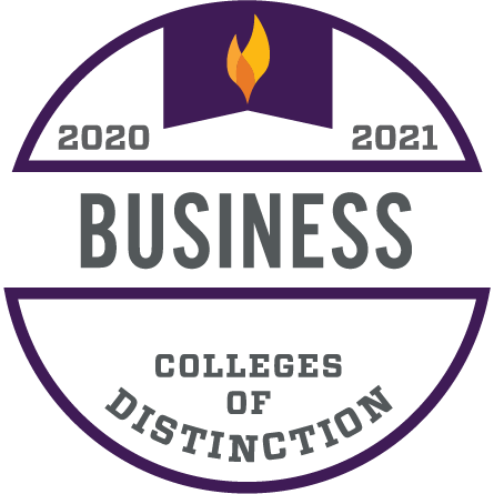 2020-2021 Colleges of Distinction Business Program Badge