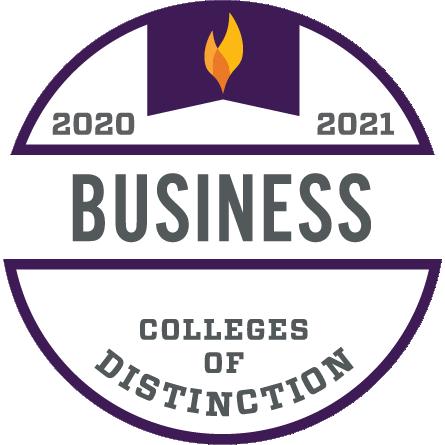 2020-2021 Colleges of Distinction Business Program Badge