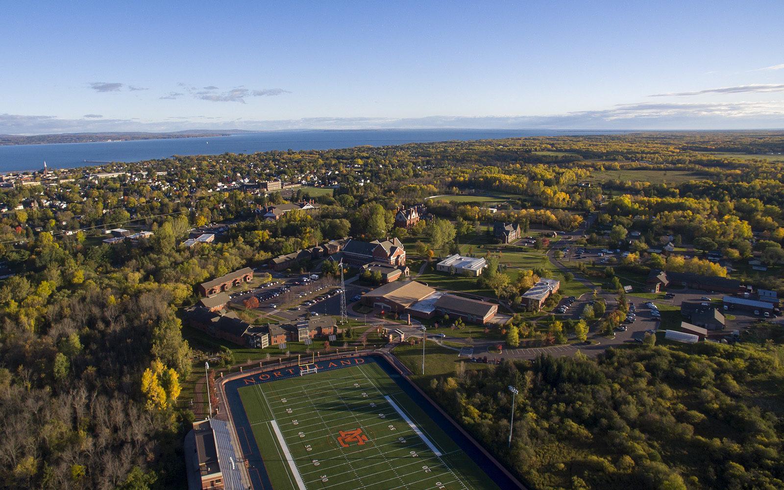 Northland College campus aerial