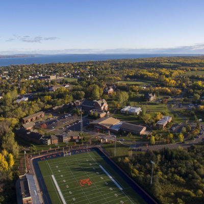 Northland College campus aerial