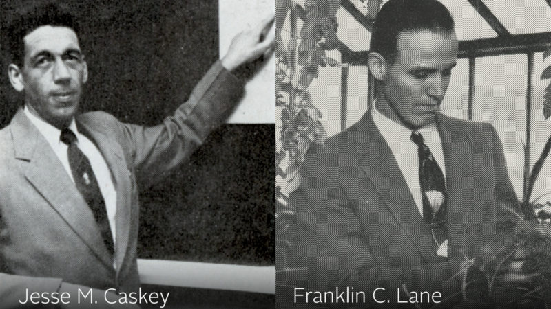 Northland College faculty Jesse M. Caskey and Franklin C. Lane