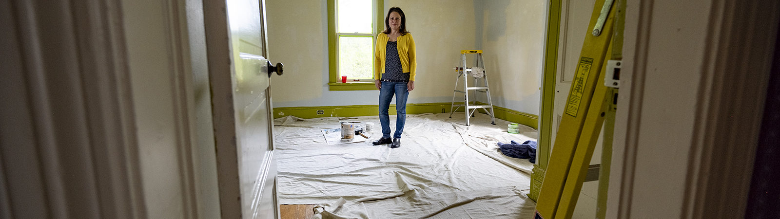 Northland College Diversity Coordinator Ruth deJesus stands in new center.