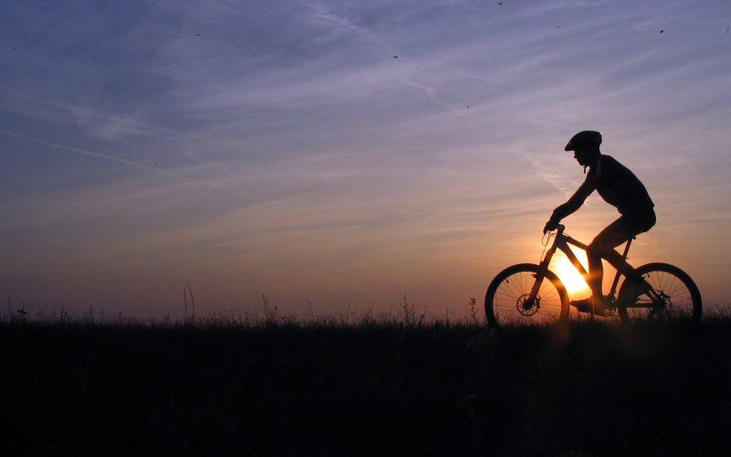 Bike in the moonlight