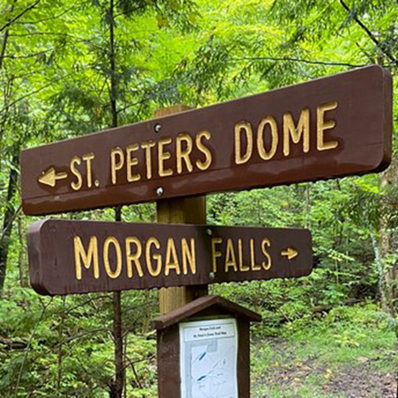 trail signs for morgan falls